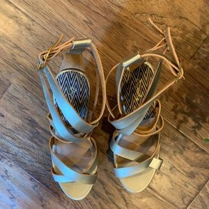Qupid Shoes - 🌿Qupid Gold Wedge|Women's size 8| LIKE NEW!